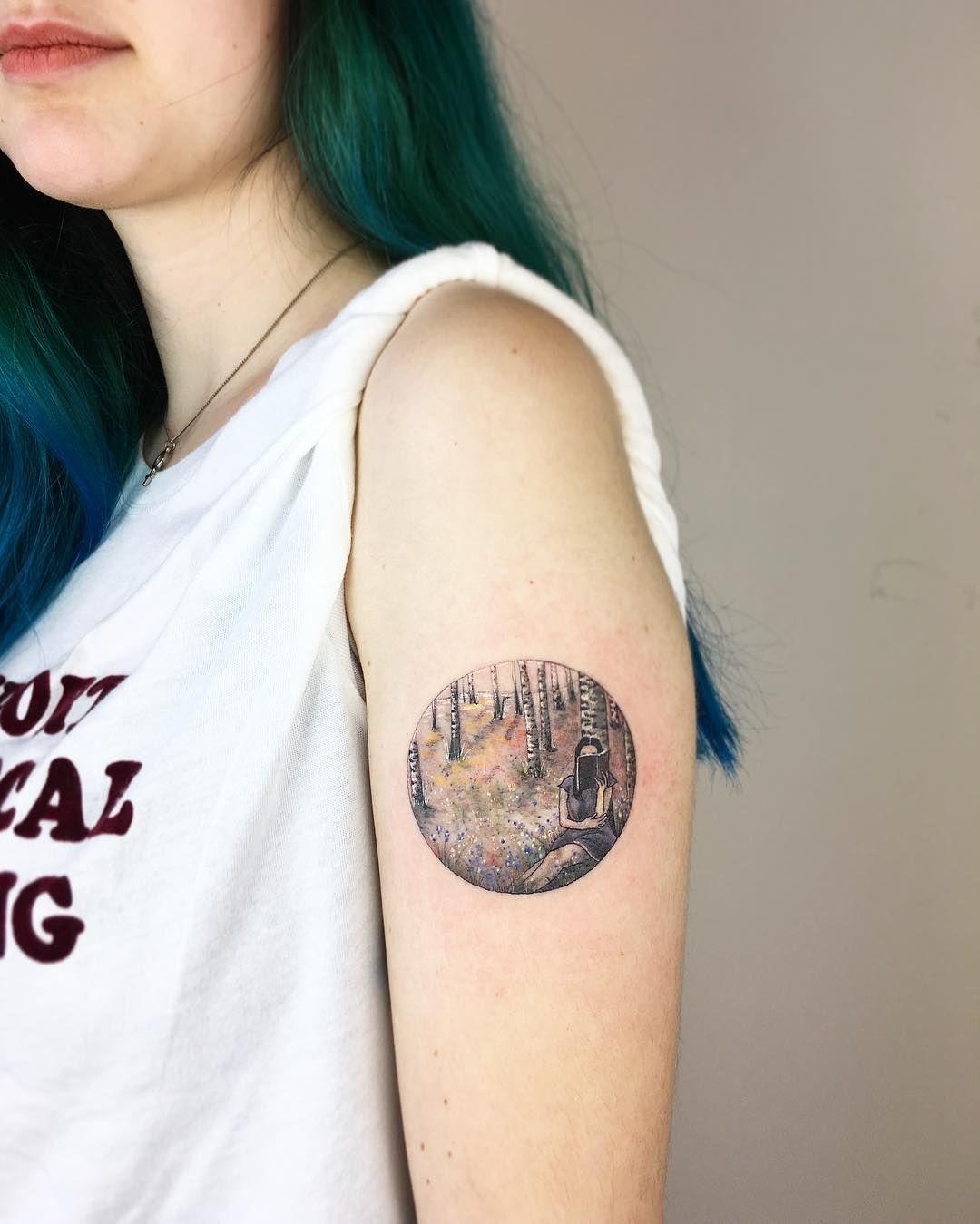 Pin By Karolina On Tatuaz Tattoos Forest Tattoos Arm Tattoo