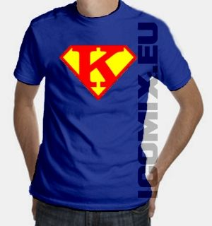 Superman logo t shirt letter k dreaming of the day for Make your own superman shirt