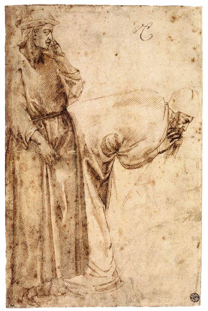 Michelangelo, as a student in the studio of Ghirlandaio, made these studies after Giotto at age 13.  Art History News: July 2013