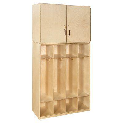 Wood Designs Contender 4 Tier 4 Wide Home Locker Wayfair Home Lockers Wood Design Locker Storage