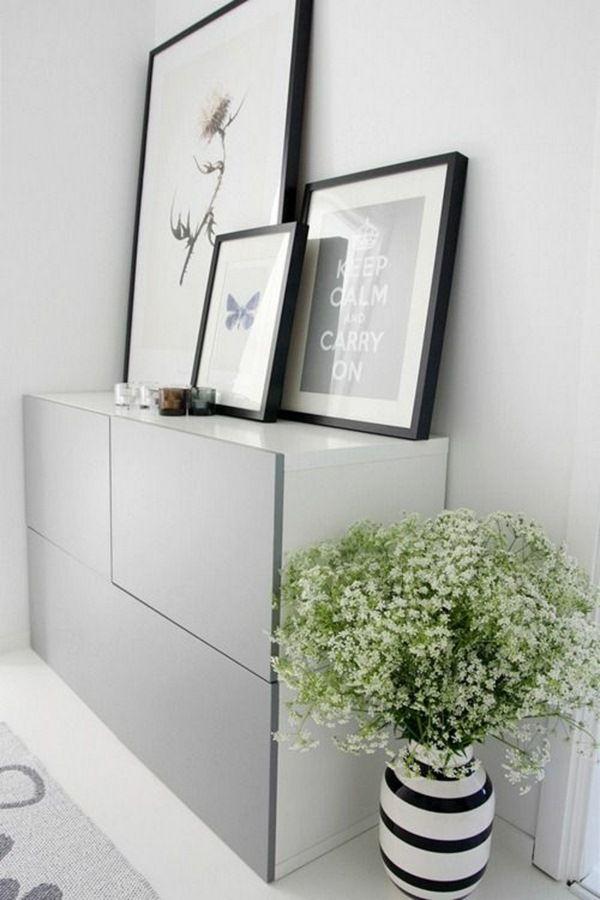 IKEA Besta Buffet blanc Ikea mobilier complet TV deco Pinterest - Wohnzimmer Ikea Besta
