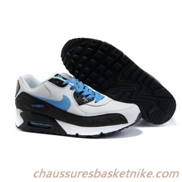 Homme Nike Air Max 90 Chaussures - noir / bleu ciel / blanc | Air ...