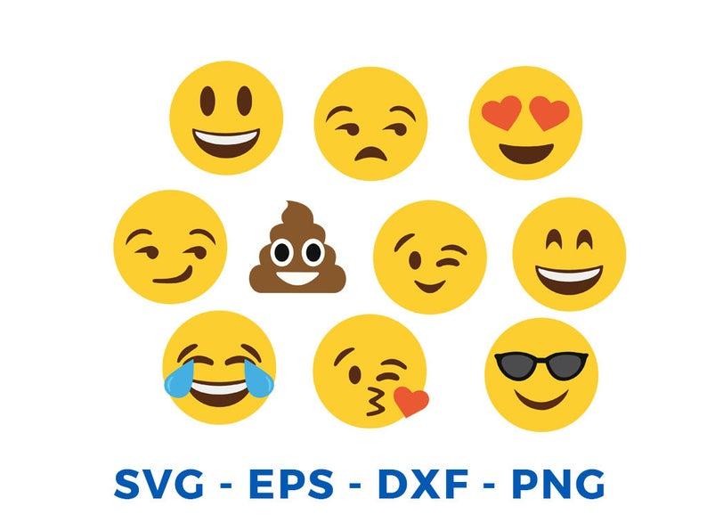 Emoji Svg Collection Emoji Clipart Smiley Faces Svg Emoji Svg Files For Silhouette Cameo Or Cricut In 2020 Emoji Svg Emoji Clipart Clipart Smiley