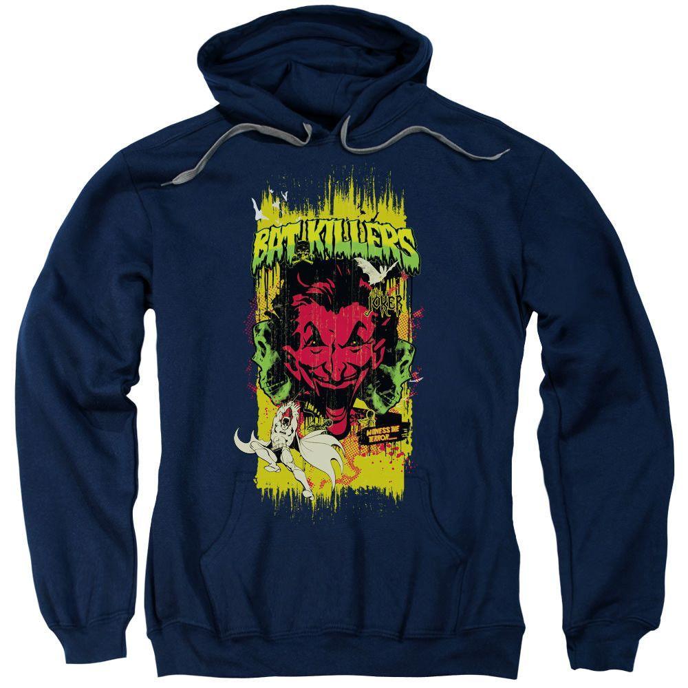 Batman Bat Killers 2 Navy Hooded Sweatshirt
