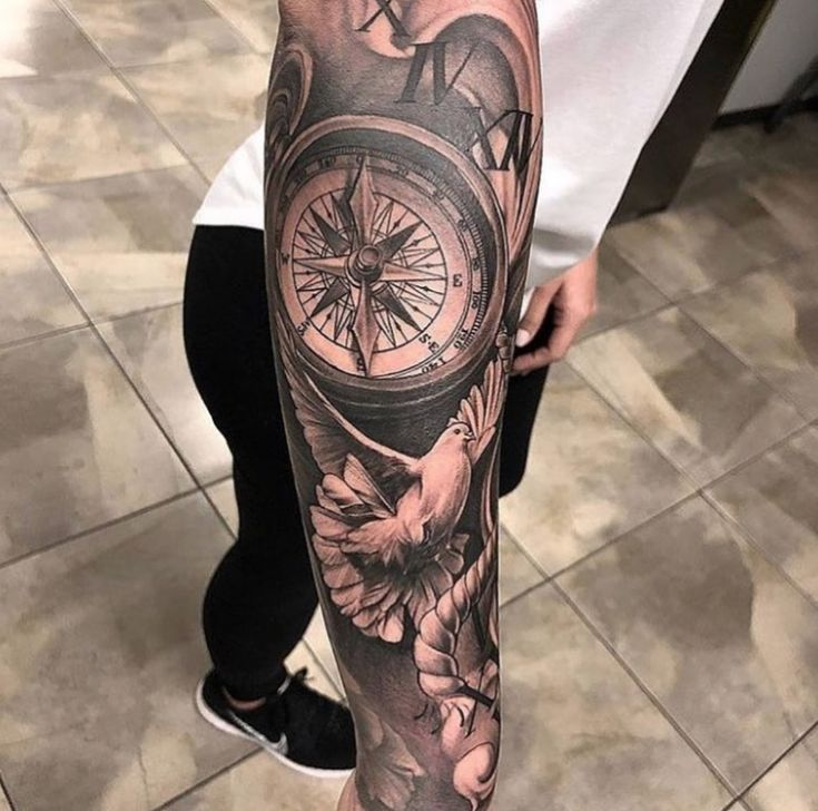 Sleeve Tattoos Compass Tattoo Ideas
