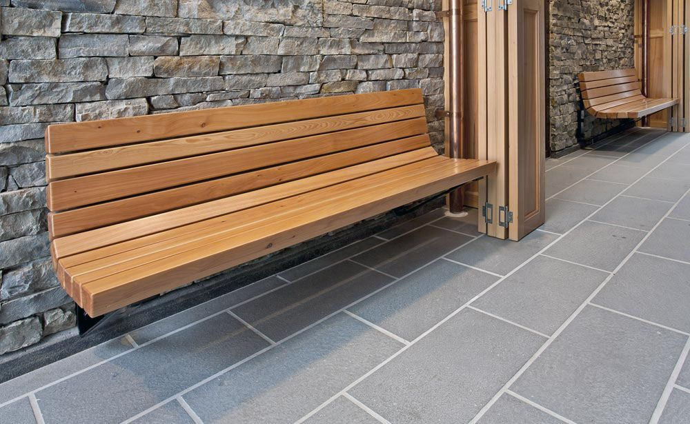 Wall Benches 2142 6 Wall Mount Contour Bench Wood Slats