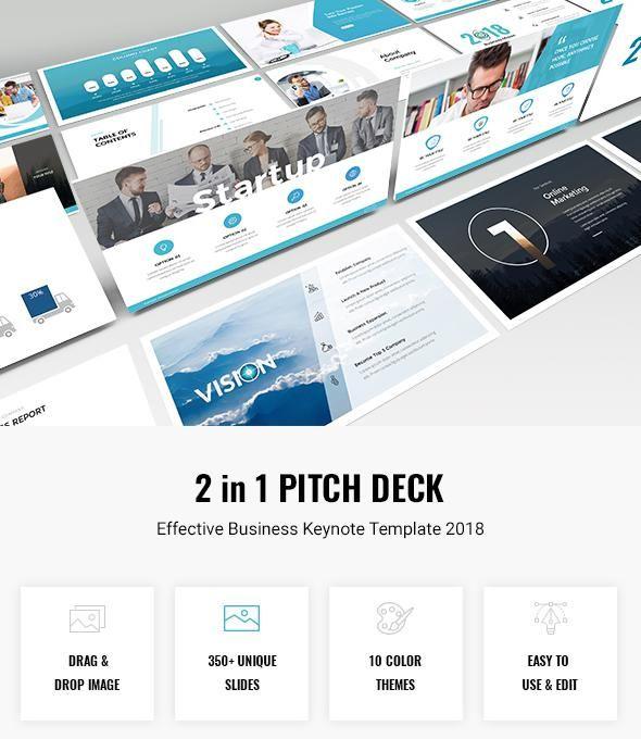 Bundle 2 In 1 Startup Pitch Deck Keynote Template 2018