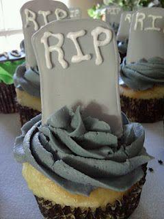 Tombstone Birthday Cupcakes