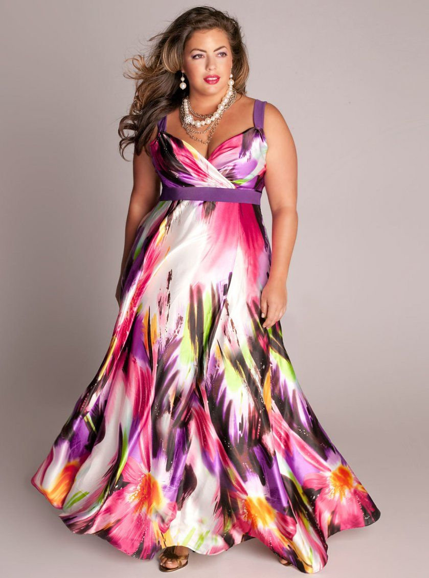 Plus size maxi dresses for summer wedding  Igigius most STUNNING plus size dress The Tropical Beauty Maxi