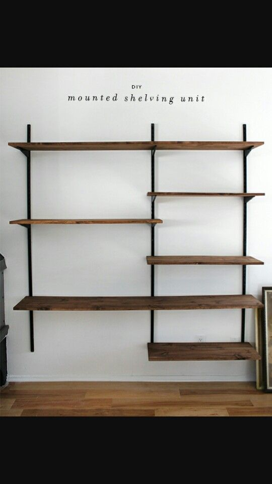 Mounted shelves