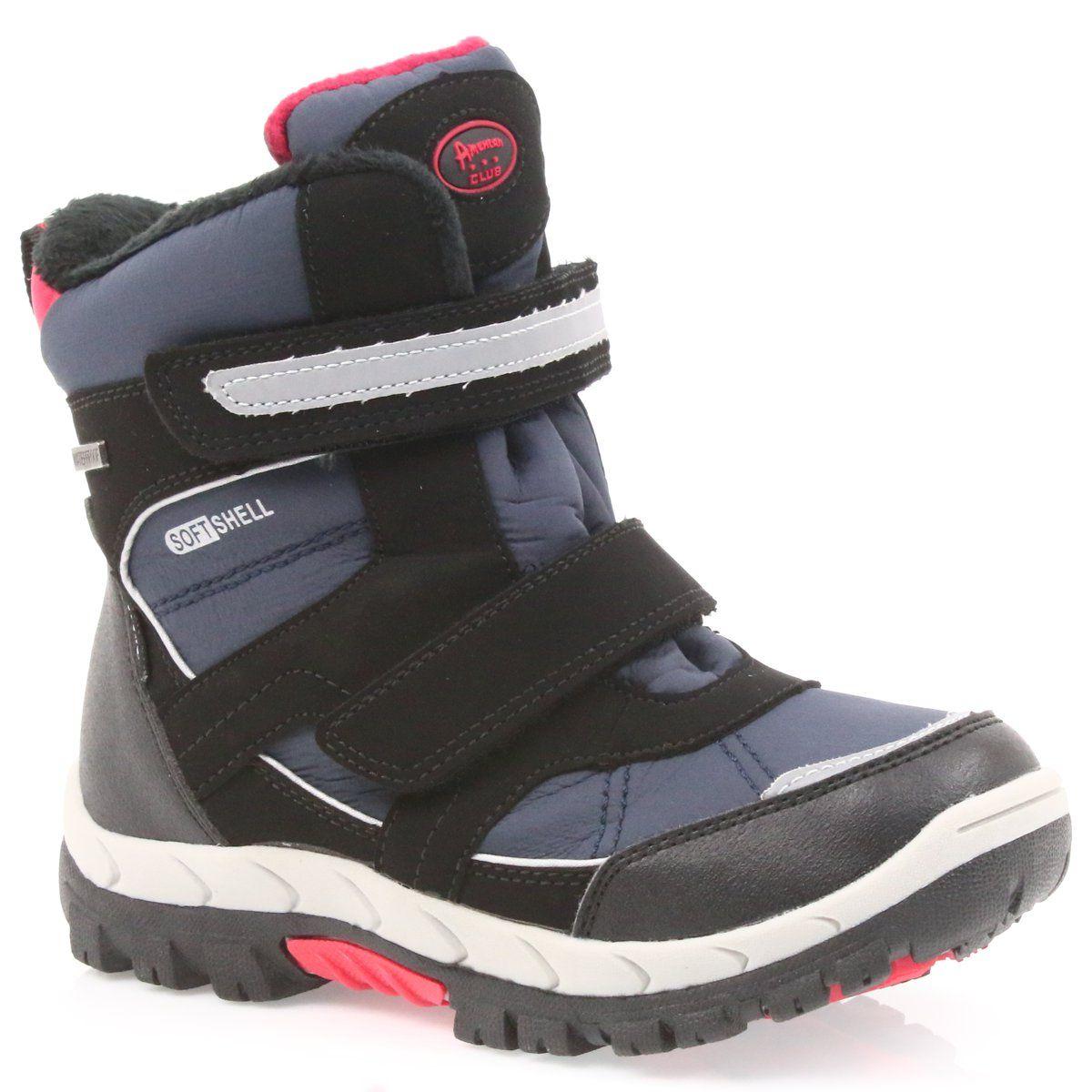 American Club American Kozaki Buty Zimowe Z Membrana 1813 Czarne Czerwone Granatowe Shoes Sandals Fashion