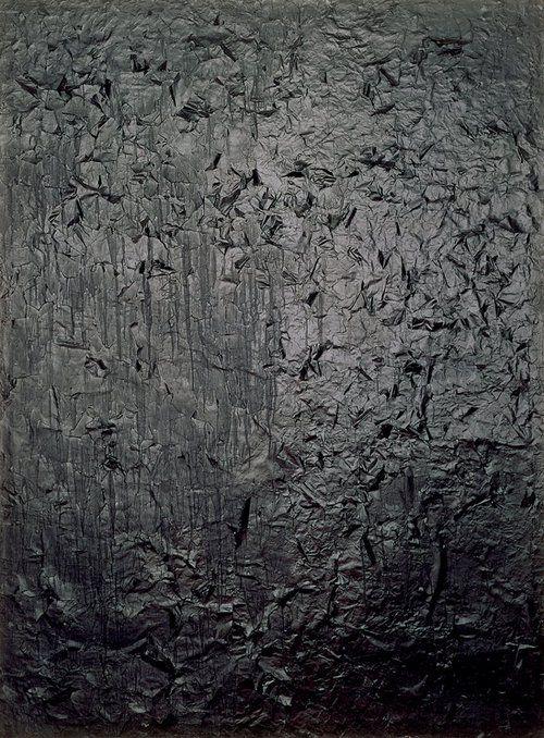 Raushenberg's Untitled [glossy black painting]