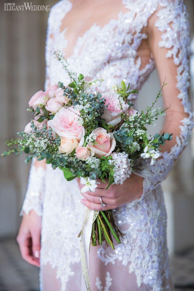Soft Pink Rose Bouquet How Beautiful Is That Zuhair Murad Wedding