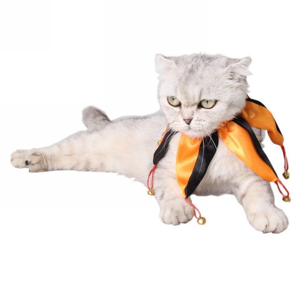 Actlati Cute Clown Kitten Collar Doggy Neckerchief Small Pet Fancy Bell Cat Dog Necktie Wonderful Of You To Drop By Cat Collars Kitten Collars Cat Clothes
