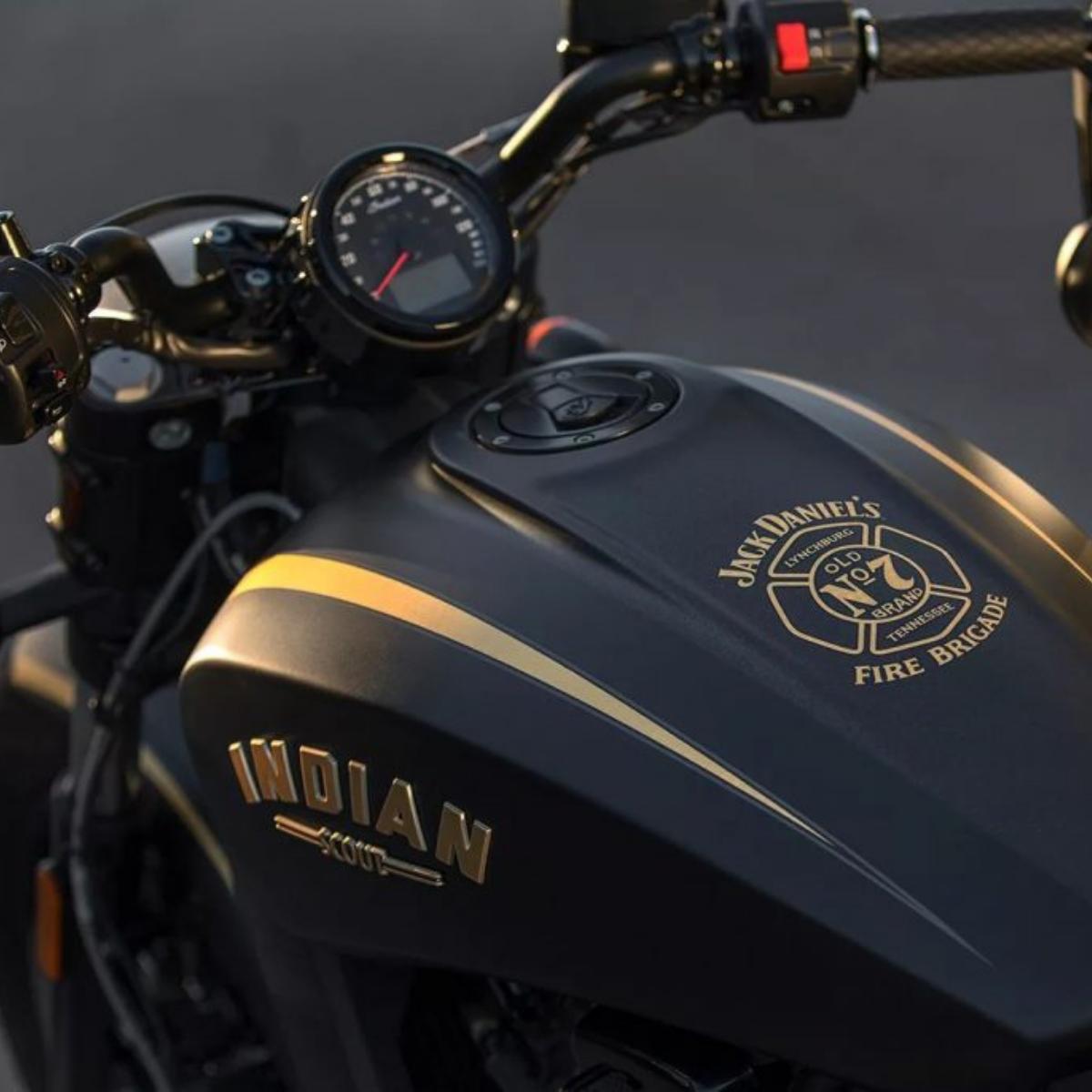 Indian Scout Bobber Jack Daniels Edition Indian Motorcycle Indian Scout Motorcycle [ 1200 x 1200 Pixel ]