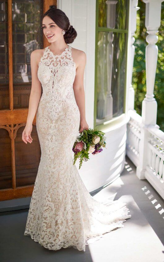 Boho Wedding Gown With Graphic Lace