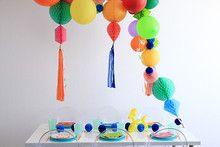 bright modern birthday ideas