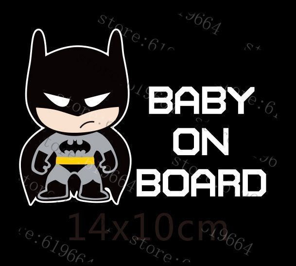 Little Superheroes Baby On Board Car-Styling Reflective Car Stickers//Decals for