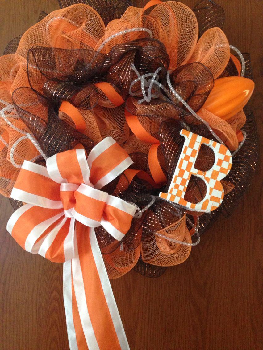 Cleveland Brown wreath Sports wreaths, Burlap wreath