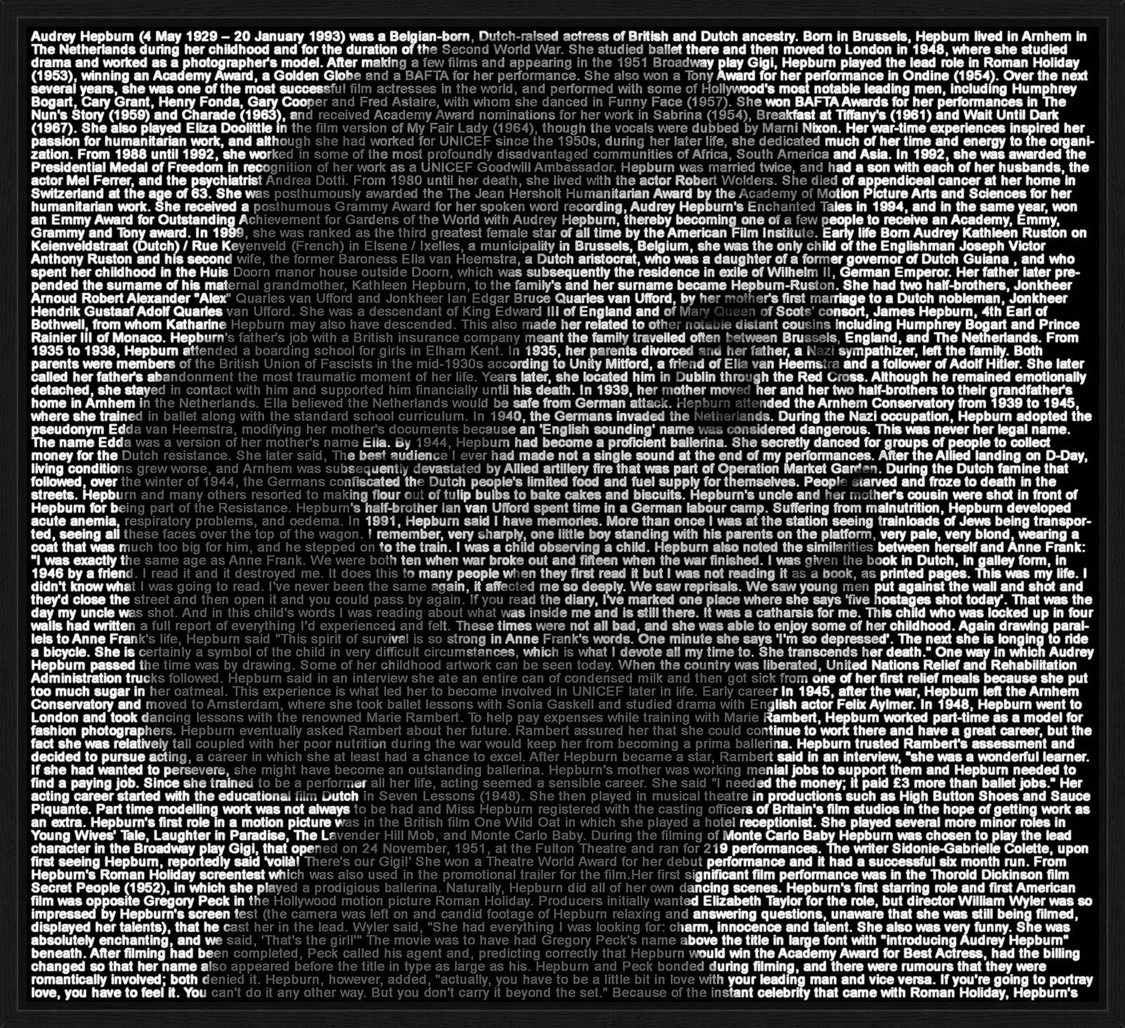 Audrey Hepburn III von Ralph Ueltzhoeffer