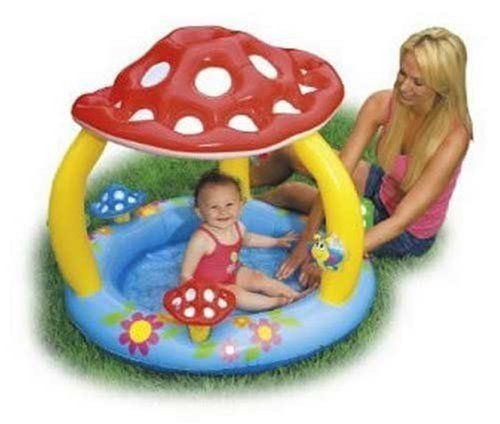 "Mushroom Baby Kids Toddler Outdoor Inflatatable pool, wish I could find a more ""boy"" version of this."