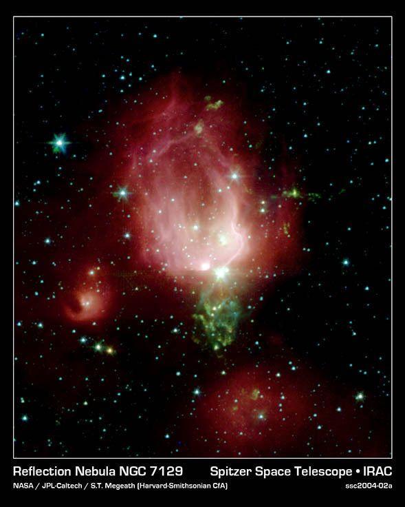 Happy Valentines Day! Enjoy this rose...bud Nebula. It's located 3300 light-yrs away in the constellation Cepheus.  (Reflection Nebula NGC 7129 Spitzer Space Telescope NASA/JPL-Caltech/S.T.Megeath) (Harvard-Smithsonian CfA)