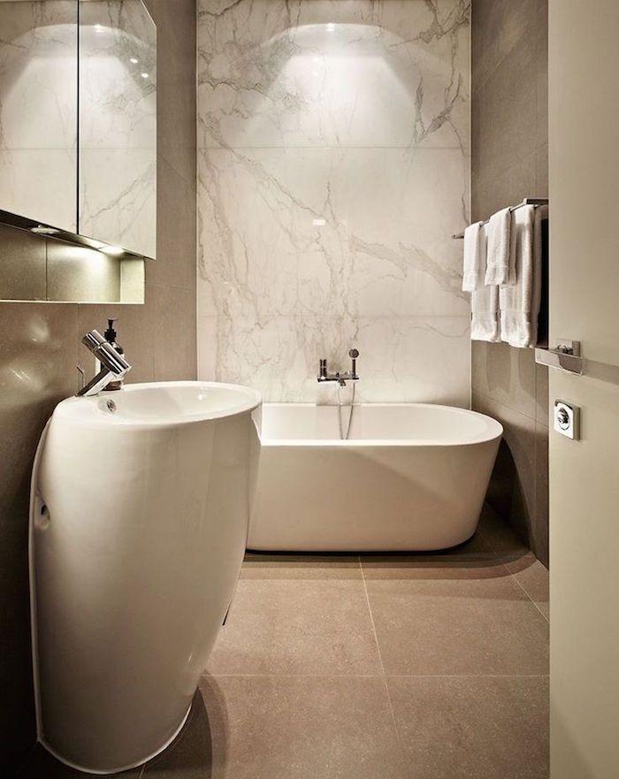 Salle de bain beige et gris u2013 pierre deviendra sable Bathroom - Salle De Bain Moderne Grise