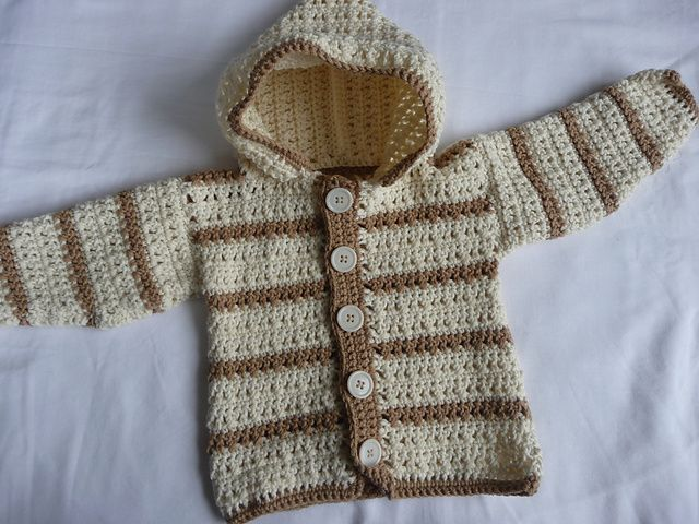 Free Crochet Pattern For A Baby Sweater : This is my next project- I am making this sweater for ...