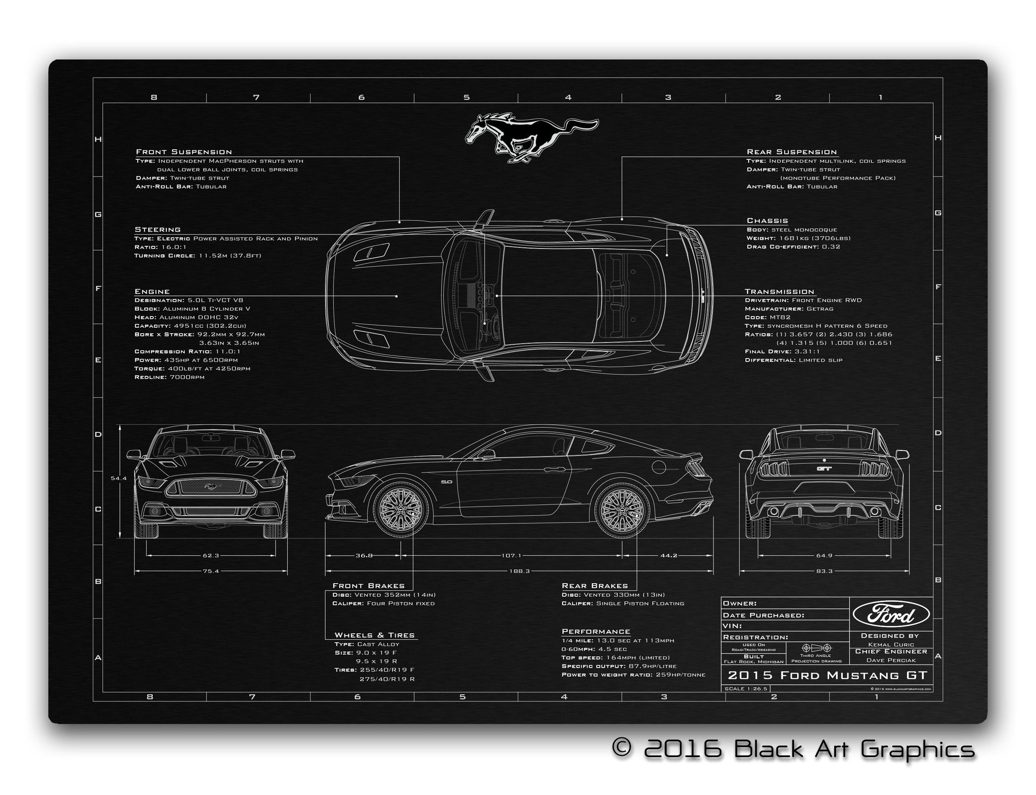 Vehicle blueprint new 2015 2016 mustang cars pinterest vehicle blueprint new 2015 2016 mustang malvernweather Images