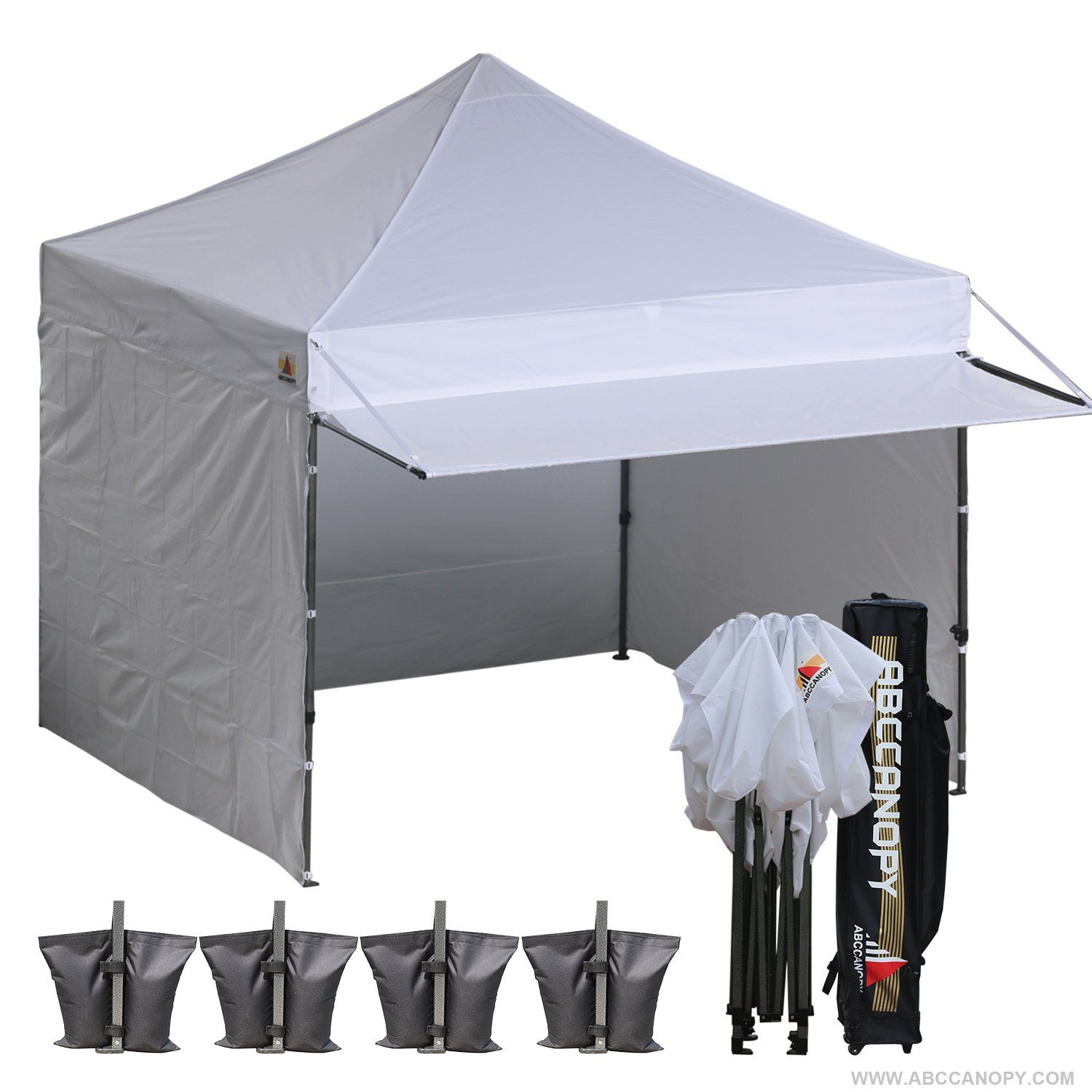 10x10 Abccanopy Easy Pop Up Canopy Tent Instant Shelter Commercial Portable Market Canopy With Matching Sidewalls Weight B Pop Up Canopy Tent Canopy Tent Tent