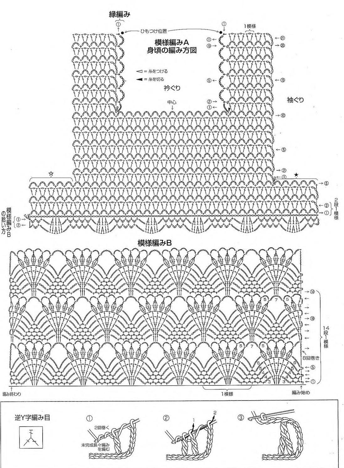 Crochet Blouse Free Diagram