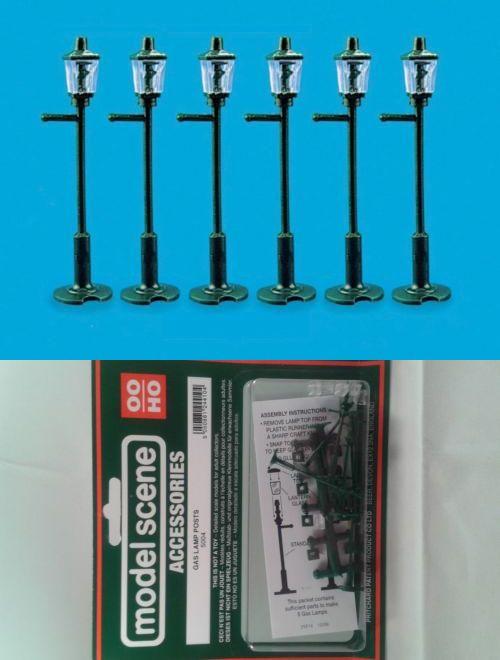 Model Scene 5004 OO//HO Accessories free post Gas lamps
