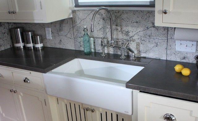 Make Your Own Concrete Countertop   concrete kitchen countertops with white  cabinetsConcrete Countertops     cement countertops with farm house sink. Kitchen Backsplash Patterns   Hutch court   Pinterest   Kitchen