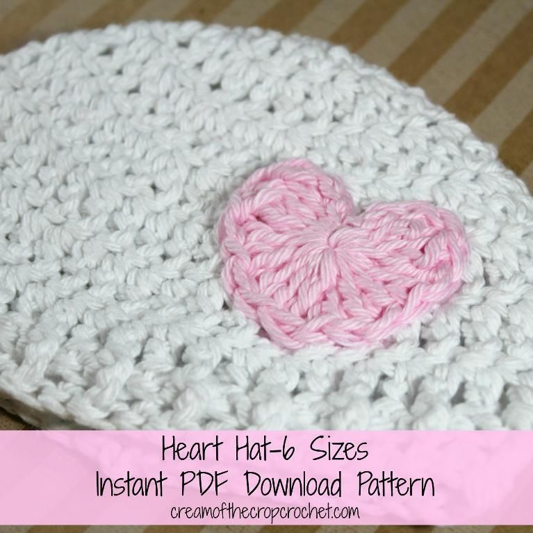 Heart Hat, 6 Sizes