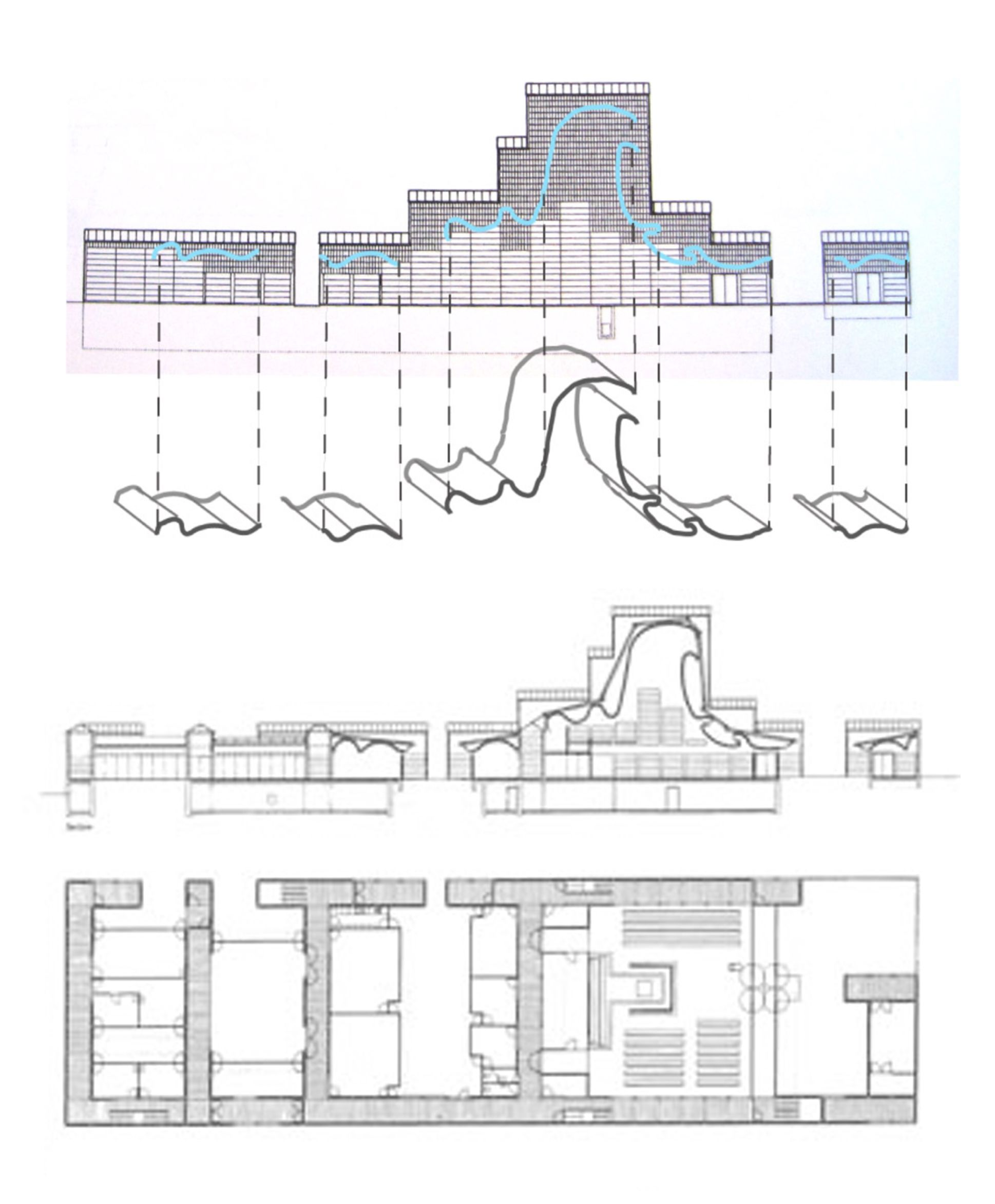 Plan And Sections Of Bagsvaerd Church