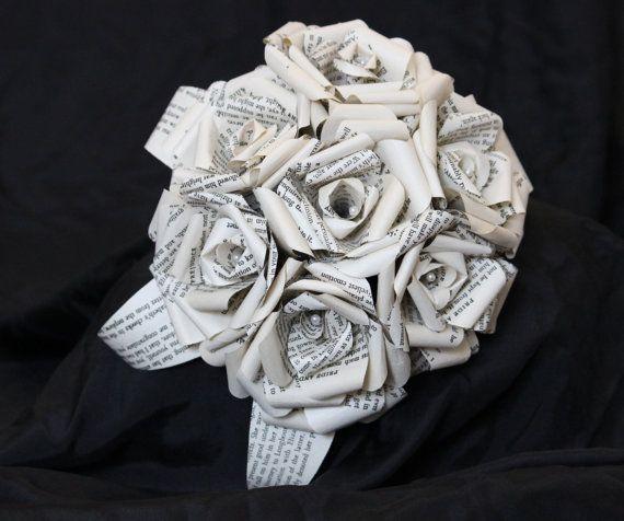 Discworld Bridal Book Bouquet By Helmore By Helmoreboutique 20 00 Ramos De Novia Novios Ramos