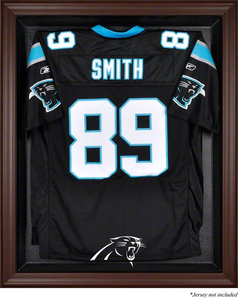 Carolina Panthers Framed Logo Jersey Display Case