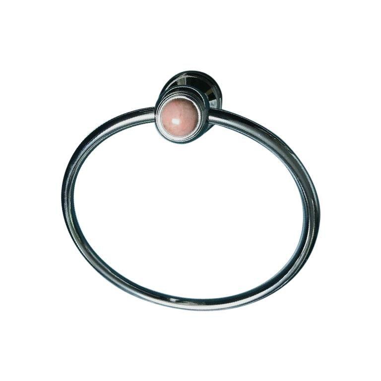 Photo of 1stdibs Bathroom Fixture – Vintage Chromed Bronze & Towel Ring Serdaneli Paris French Modern Onyx, Chrome
