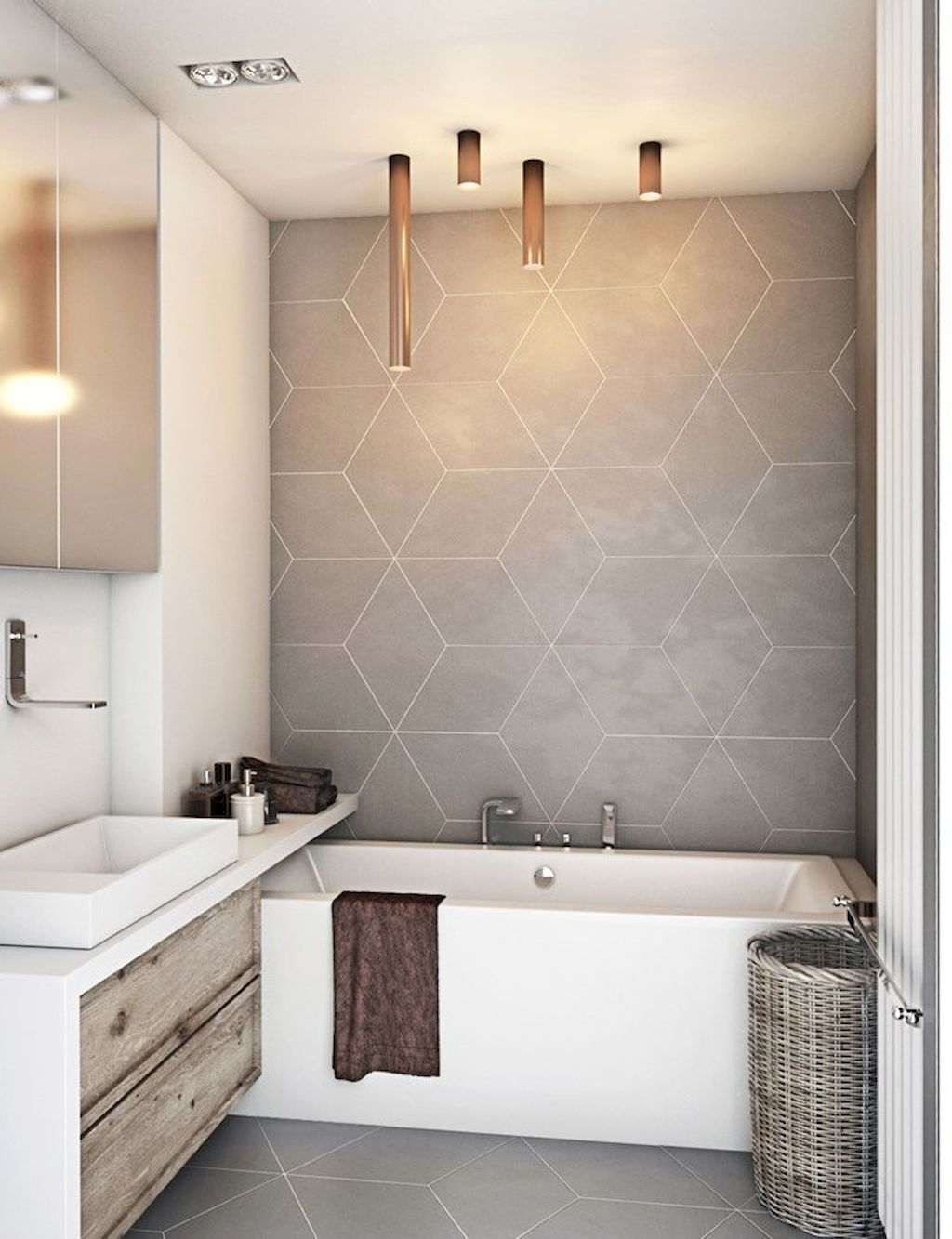 55 Inspiration Bathroom Tile Pattern Decorating Ideas