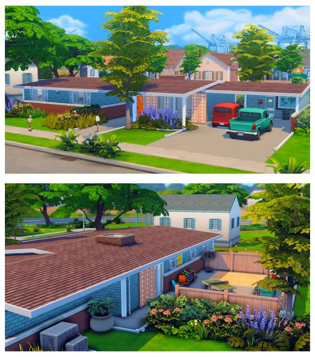 House Styles, The Sims 4 Lots, Mid