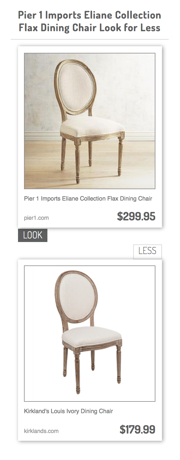 Pier 1 Imports Eliane Collection Flax Dining Chair Vs Kirklandu0027s Louis  Ivory Dining Chair