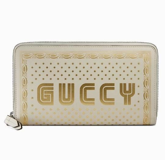 Gucci White Sega Moon Stars Zip Around Wallet - Tradesy