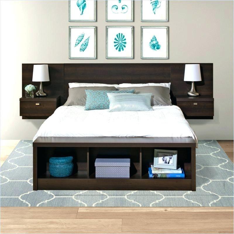 Wooden Headboard With Shelves Beds Shelf Headboards King Size