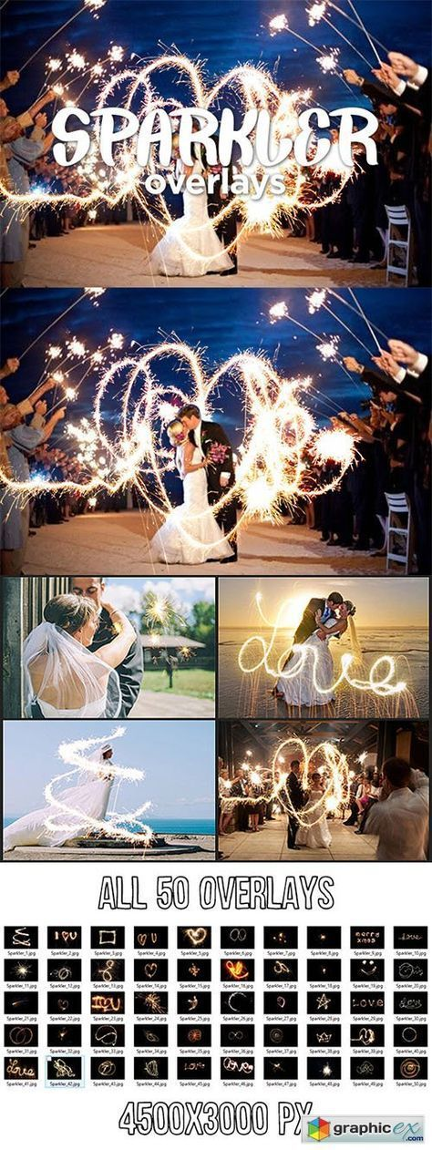 Sparkler Overlays | DOWNLOADS FOR PHOTOSHOP | Photography