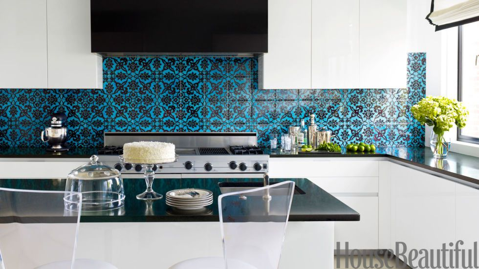 28 Colorful Kitchens That Will Inspire You  Black Granite Mesmerizing Design Tiles For Kitchen Decorating Inspiration