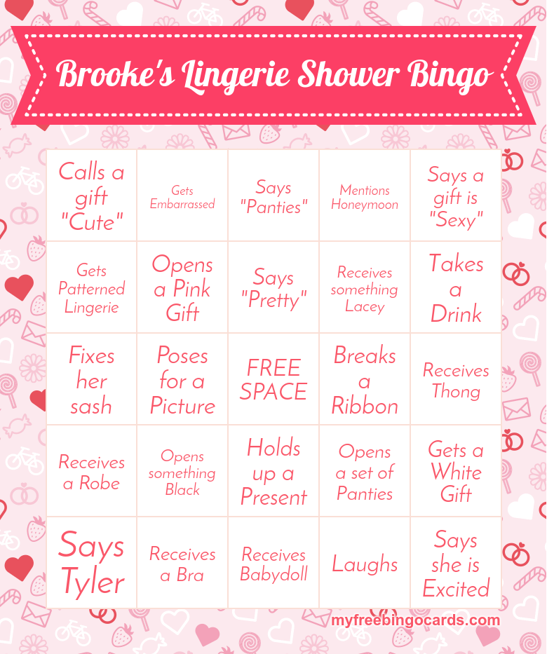 lingerie shower bingo more lingerie party games