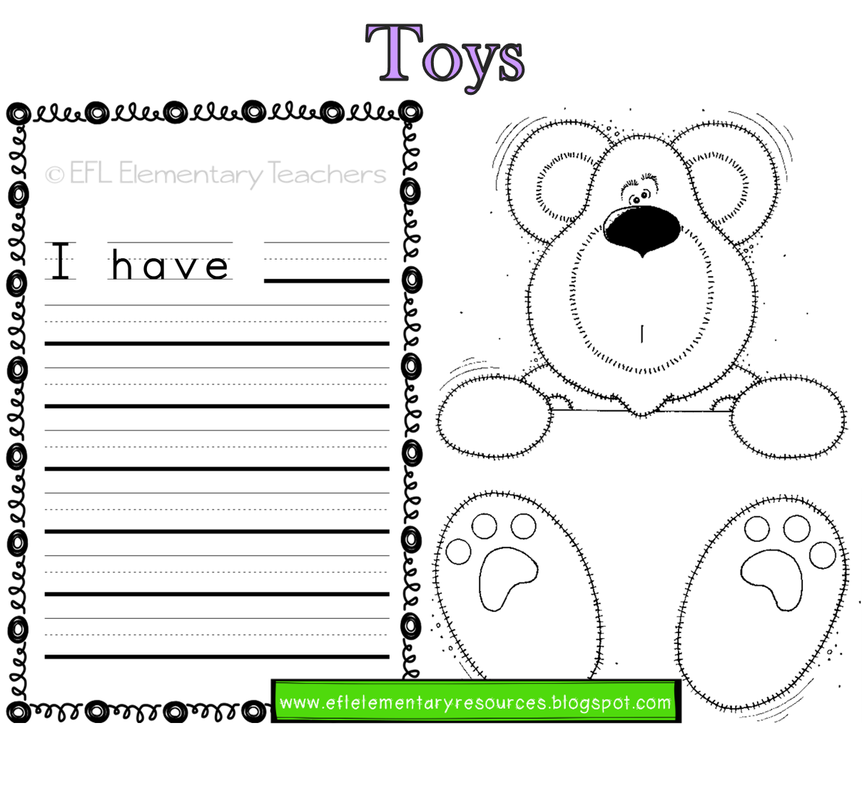 Toys Thematic Unit For Elementary Ell