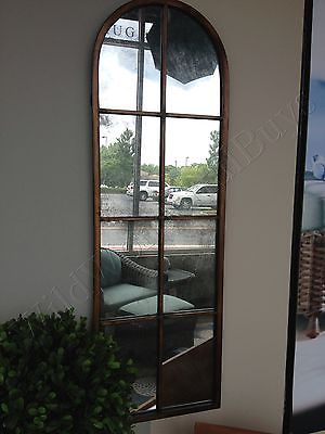 Details About Metal Arched Wall Mirror Windowpane 50h
