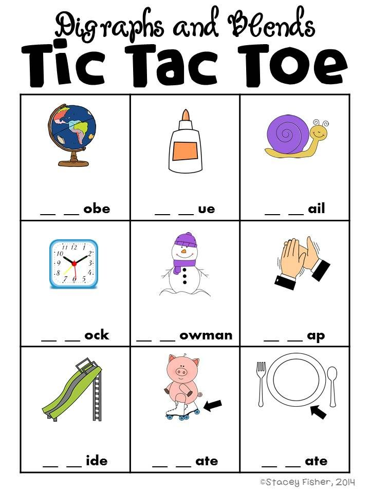 Letter Tic Tac Toe-Beginning, Middle, \ Ending Sounds, Blends - sample tic tac toe template