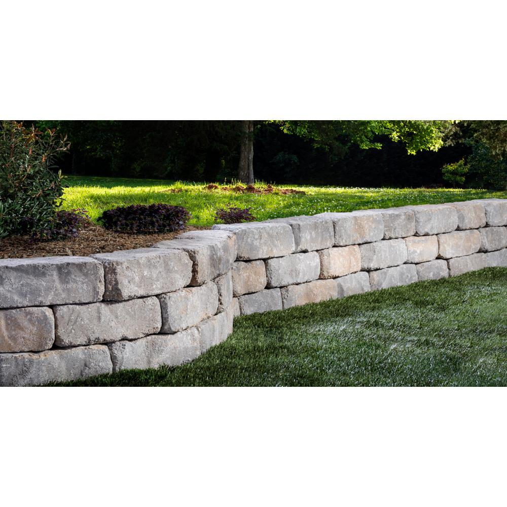 Oldcastle Mini Beltis 3 In H X 8 In W X 4 In D Harbor Concrete Retaining Wall Block 378 Piece Pallet 16253071 The Home Depot Concrete Retaining Walls Landscaping Retaining Walls Backyard Retaining Walls